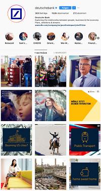 Deutsche Bank Instagram-Kanal