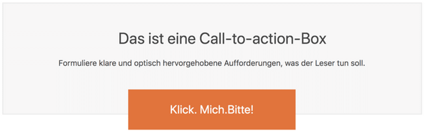 Call-to-actions - ein Beispiel