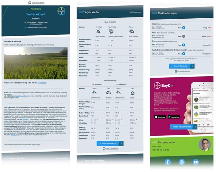 Hochpersonalisierte Wetter-E-Mailings von Bayer CropScience