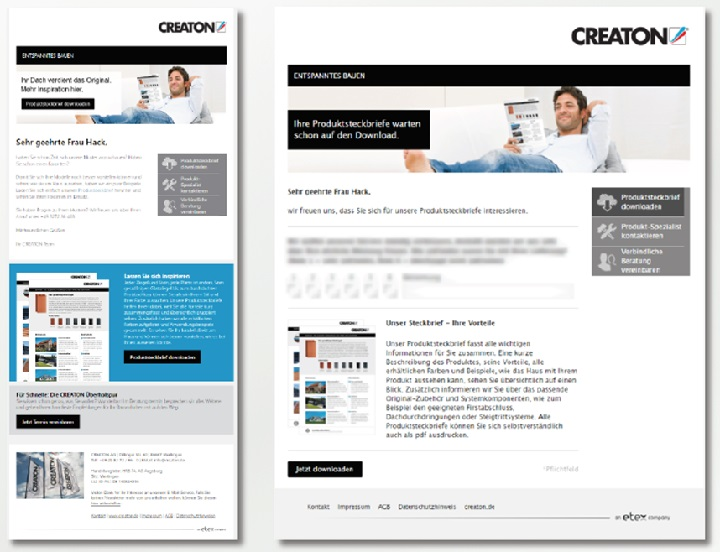 Creaton setzt auf Leadmanagement und E-Mail-Marketing